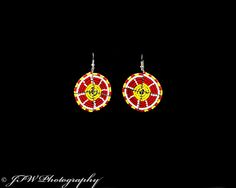 Handmade African Jewelry #handmade #earrings #unique #style #fashion #pretty #yellow #red #love #photography #jfwphotography