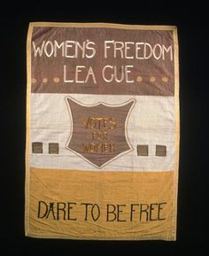 Image result for picture of suffragette banners
