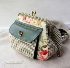 """Loveka Handmade: Кошелек с фермуаром """"Розы, клетка и кожа"""" и Где купить КОЖУ? http://lovekalovelythings.blogspot.com/"""
