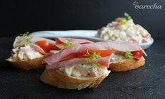 Šalát na chlebíčky - recept | Varecha.sk Salmon Burgers, Sandwiches, Appetizers, Ethnic Recipes, Food, Roll Up Sandwiches, Salmon Patties, Meal, Essen