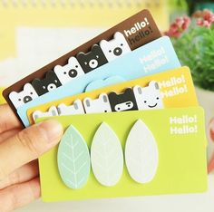 Cute Korean sticky notes,memo pads memo sticker label note message for DIY scrapbook decoration, bookmark, paper working, wedding party deco on Etsy, 1,40€