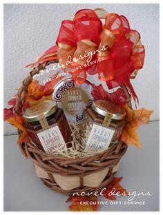 Fall Festival Gift Basket - Created by Novel Designs Executive Gift Service of Las Vegas. #LasVegas #Thanksgiving #GiftBasket