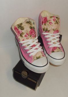 Spring Floral Converse Shoes on Etsy, $85.00