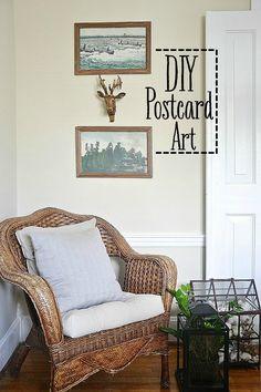 DIY postcard art - S