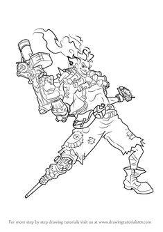 Learn How To Draw Junkrat From Overwatch Step By Drawing Tutorials