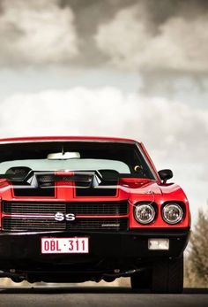 Chevrolet Chevelle SS- dream car...only I want my to be black with red racing…