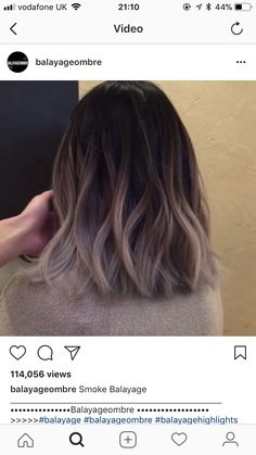Ideas Hair Color Blonde Balayage Dip Dye Colour - All For Hair Cutes Cabelo Ombre Hair, Blonde Balayage, Brown Balayage, Ombre Brown, Ash Brown, Ash Blonde, Blonde Color, Blonde Hair, Hair Color And Cut