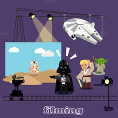 Film Shootings Camera and Projector by @Graphicsauthor