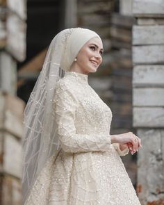Fashion Tips 101 .Fashion Tips 101 Muslimah Wedding Dress, Hijab Style Dress, Muslim Wedding Dresses, Muslim Brides, Muslim Dress, Dream Wedding Dresses, Bridal Dresses, Bridesmaid Dresses, Muslim Girls