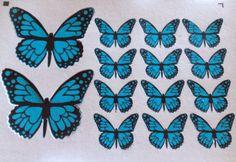 Butterfly Fashion, Ideas Para Fiestas, Fondant Cakes, Design, Paper Butterflies, Sour Cream, Beautiful Butterflies, Decorating Cakes, Blue Butterfly