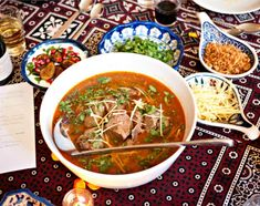 Nihari is a National Pakistani dish consists of lamb or beef that takes longer time in the cooking and served with tasty