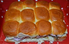 Baked Ham and Swiss Sliders - the sauce made from dijon mustard, worcestershire sauce, & butter MAKES this easy meal/dinner recipe. It's so delicious! Ham And Swiss Sliders, Ham Sliders, Deli Ham, Ham And Bean Soup, Hawaiian Rolls, Sliced Ham, Leftover Ham, Baked Ham, Snack Recipes