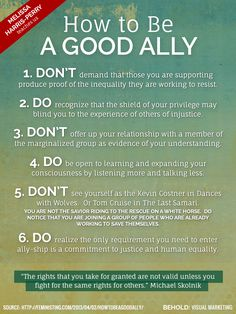 Behold: how to be a good ally @MHarrisPerry #solidarityisforwhitewomen #embracediscomfort