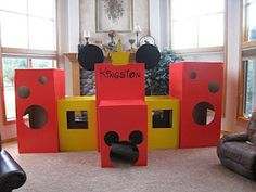 Zach and I worked many hours during Kingston's naps to build this fort for him for his Mickey Mouse First Birthday Party! And it was a hit! Mickey Mouse Clubhouse Party, Mickey Mouse Clubhouse Birthday, Mickey Party, Mickey Mouse Birthday, First Birthday Parties, First Birthdays, 3rd Birthday, Birthday Ideas, Birthday Board