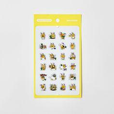 Korea Kakao Talk Friends Character Transparent Mini Sticker Muzi & Corn #KakaoFriends #Transparentstickers