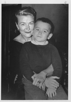 A 7 year old Robin Williams with his mother Laurie Williams, 1958.