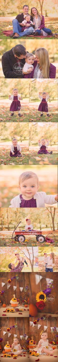 an autumn outdoor family session and cakesmash theme