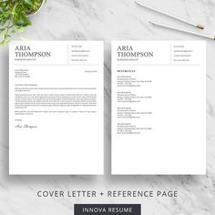 How To Do A Cover Resume Creative Resume Template For Word  Modern Resume Design  Cv .
