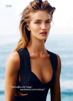 Rosie Huntington-Whiteley By Simon Upton For Harper's Bazaar...