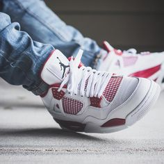 Nike Air Jordan 4 'Alternate - 2016 (by. – Nike Air Jordan 4 'Alternate - 2016 (by Jordan 4, Adidas Cap, Adidas Logo, Best Sneakers, Shoes Sneakers, Jordans Sneakers, Tenis Basketball, Nike Tenis, Adidas Originals