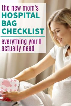 Preparing for baby and pregnancy tips - hospital bag checklist for labor