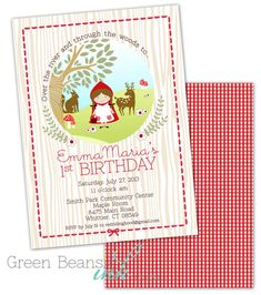 Little Red Riding Hood imprimible fiesta por GreenBeansieInk