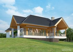 Log Home Decorating Creative suggestions 1506788972 - Into Classy strategies to form a really brilliant decor. Cottage Design, House Design, Bungalow Extensions, Small Villa, Cottage Style House Plans, Log Home Decorating, Space Architecture, Wooden House, Home Design Plans