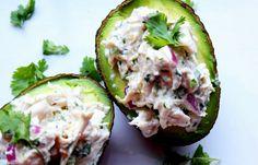 cilantro lime chicken salad on avocado!  Low Carb