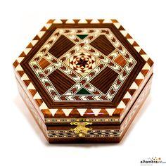 Joyero hexagonal 14 cm