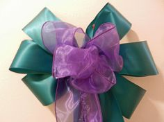Wedding/ Pew Bows set of 12 oasis/jade/ by creativelycarole