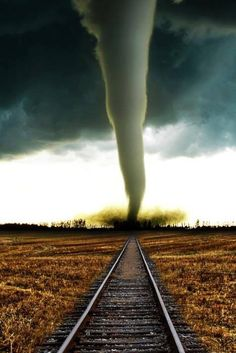 I can't tell if this tornado is on the right or wrong side of the tracks.