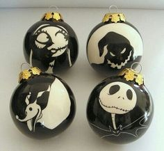 Nightmare Before Christmas Ornaments. This is our all time favorite movie<3