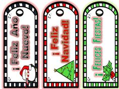 This is a set of three bookmarks in Spanish. Three different winter  holiday designs read: Feliz Ao Nuevo!, Feliz Navidad! y Felices Fiestas! Once laminated, they are great for prizes in your Spanish classroom.I punch a hole at the top of the bookmark and tie curling ribbon in a coordinating color to complete the look!Credit to:https://www.teacherspayteachers.com/Store/Sweet-Line-Design