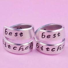 best bitches - Hand Stamped Rings