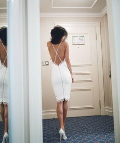 Adore this white dress.
