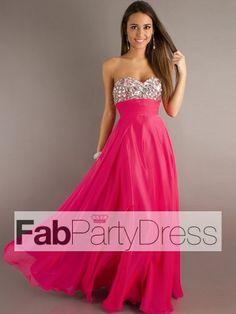 2013 Style A-line Sweetheart Rhinestone Sleeveless Floor-length Chiffon Prom Dresses / Evening Dresses (SZ0302108) - FabPartyDress.com