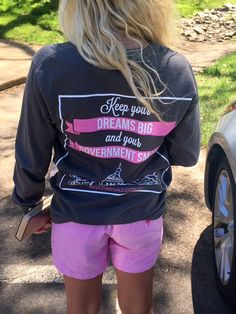 Keep your dreams big and government small - that's our mantra here at FFL. This tee is cotton and is running true to size. Republican Values, Republican Girl, Going Out Outfits, Cute Outfits, Female Leaders, Big Government, Southern Charm, Positive Mindset, Dream Big