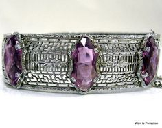 Transitional Art Deco Filigree Bracelet by worn2perfection, $165.00