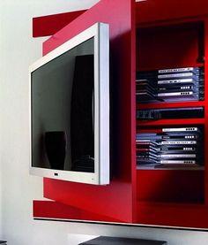 Painel De Tv Com Compartimento Secreto Filmes E Discos R$579,00 em 12X