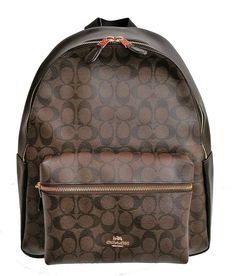 Coach Charlie Pebble Leather Backpack F38288 (Signature Black/Brown) -- You can find more details by visiting the image link.
