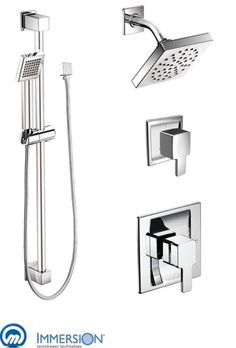 moen 835 moentrol shower system with rain shower diverter and hand shower from chrome faucet shower - Shower Diverter