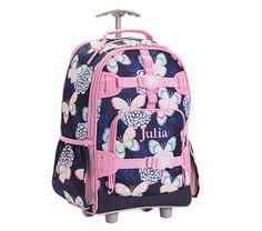 5921c486c2 Mackenzie Navy Butterfly Floral Backpacks