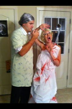 .homemade halloween costumes...alfred hitchcocku0027s classic Psycho.  sc 1 st  Pinterest & 89 best Hitchcock Party images on Pinterest   Halloween prop ...