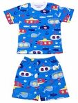 Sara's Prints Boys Deep Blue Sea Submarine Print Short PJ's / Pajamas