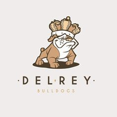 Branding treatment for Del Rey Bulldogs Canine Products. By Ian Young @quietgiantdesign. #MarinaDelRey #Bulldogs #Bully #Canine #Products #royal #Bulldog #brand #crown #merchandising #vector #logo #logodesign #characterdesign #artdirection #branding #sketch #drawing #handdrawn #quietgiantdesign