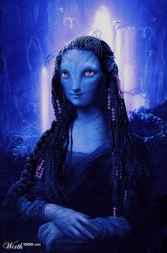 Avatar Lisa by Manosart  1st place entry in Mona Lisa 3