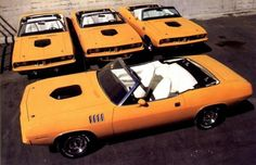 Four RARE, RARE, RARE 1971 Plymouth Hemi Barracudas!