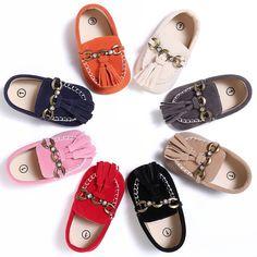 a69138271e Bebé Franja de Cuero Nobuck Primera Walker Soft Sole Zapatos Sólidos  Zapatos del Pesebre Del Bebé