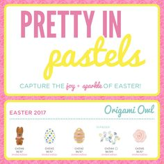 Origami Owl. Easter collection. www.charminglocketsbyaline.origamiowl.com