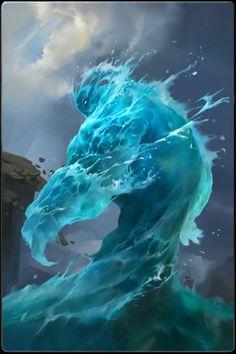 ✧ #characterconcepts ✧ Water elemental